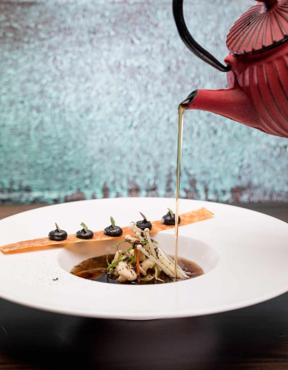 Mushroom Consommé Recipe by Chef Nelly Robinson
