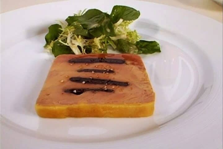 TERRINE OF FOIE GRAS, ALSACE VIEILLE PRUNE MARINATED BLACK MISSION FIGS