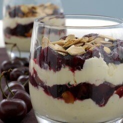 Cherry, Almond and Mascarpone Trifle