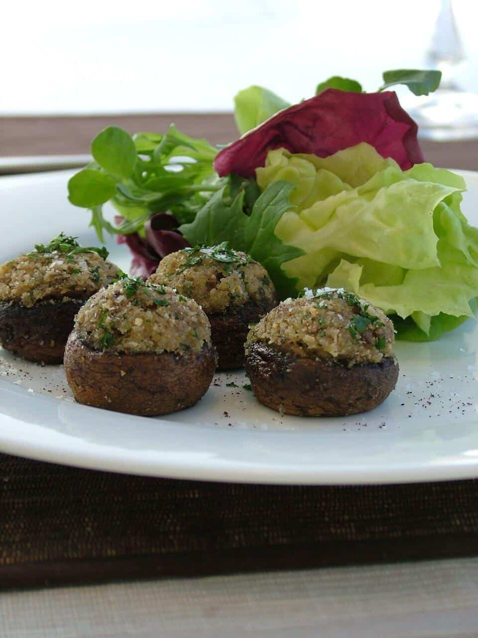 PARMESAN AND THYME STUFFED MUSHROOM CAPS
