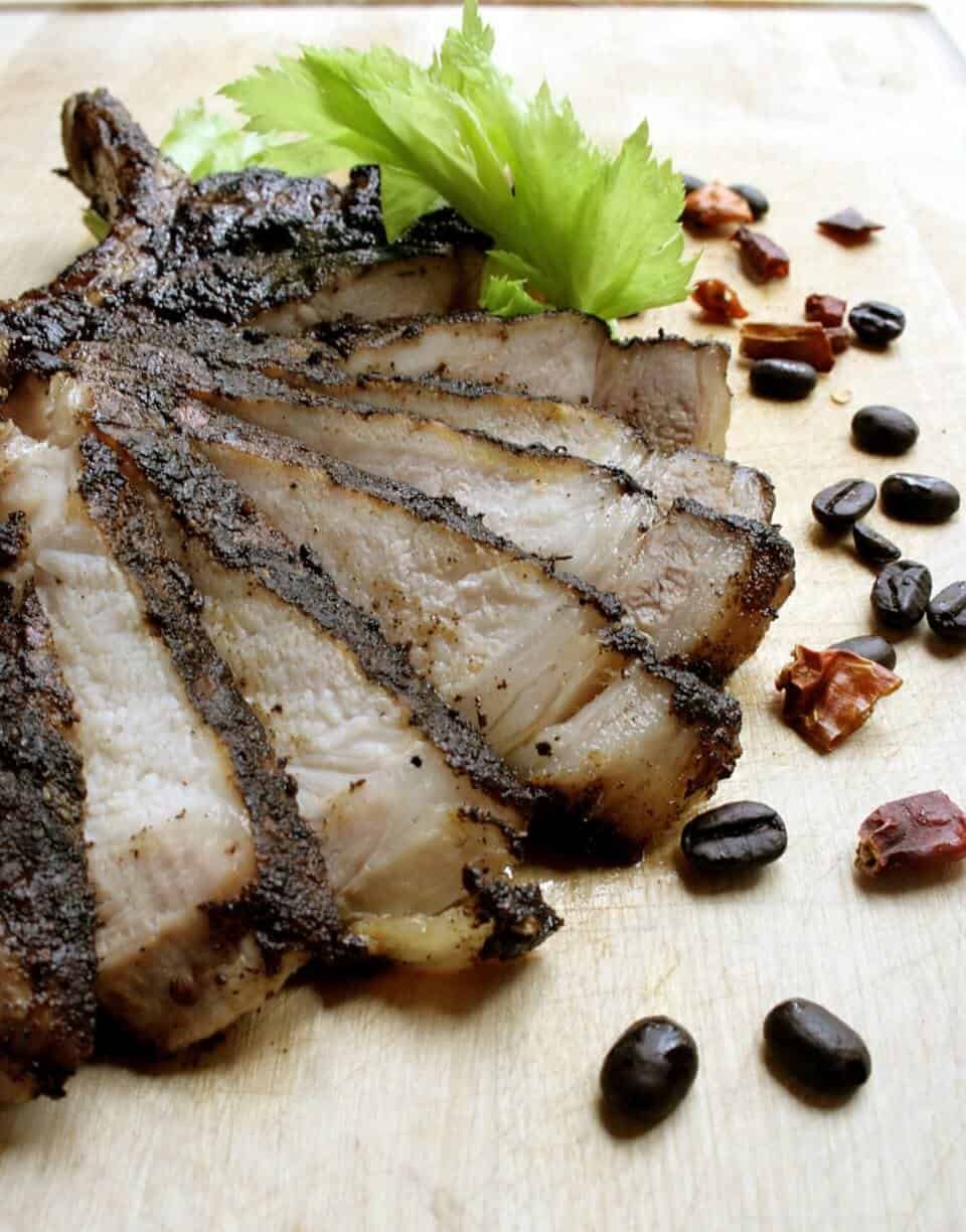 Spiced Coffee Rubbed Grilled Pork Chops