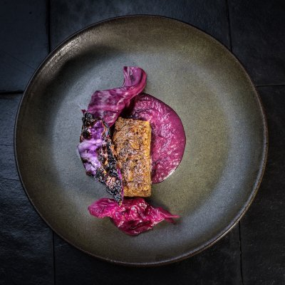 Suckling Pig Terrine with Purple Cabbage
