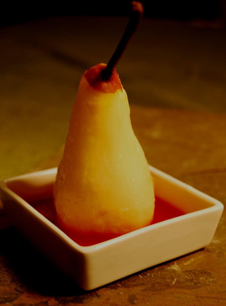SANCERRE POACHED WINTER PEARS