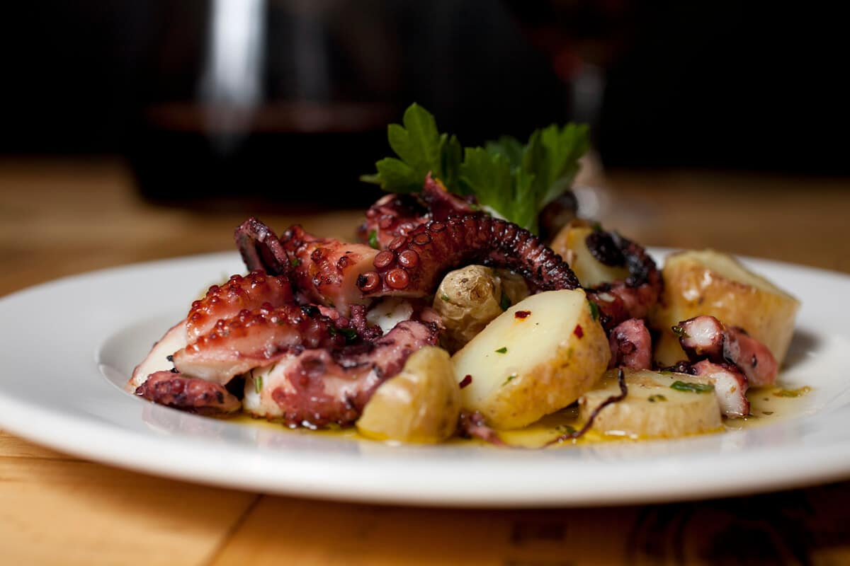 GRILLED OCTOPUS WITH ROASTED POTATOES