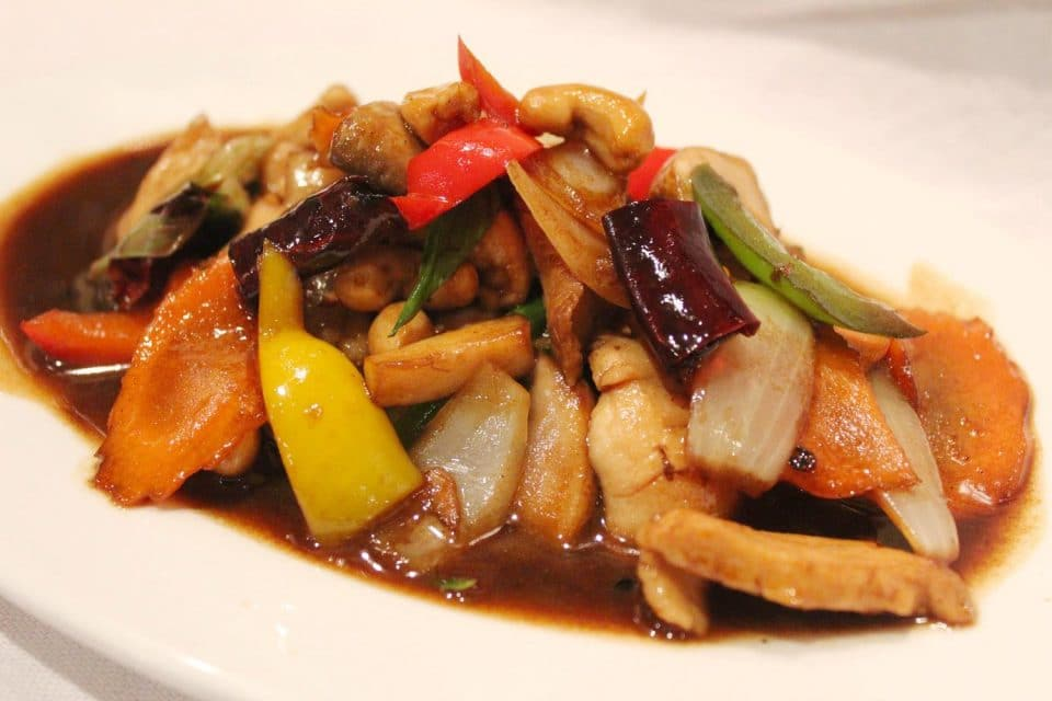 Stir fried chicken cashew nut