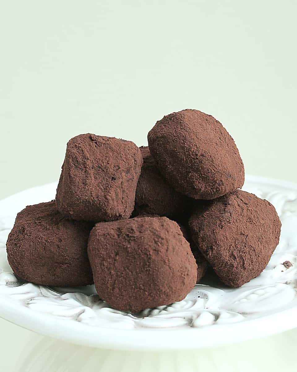 BITTERSWEET CHOCOLATE-COFFEE TRUFFLES
