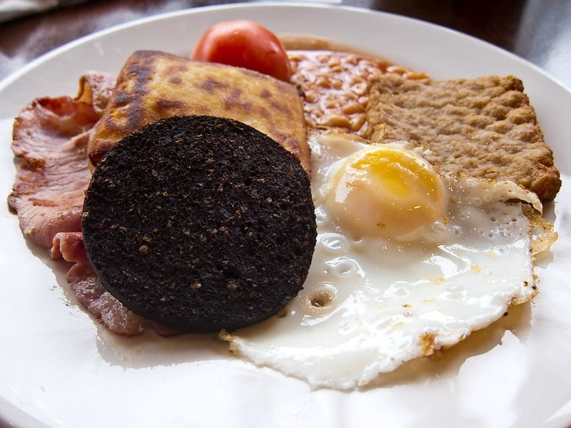 Black Pudding  served at breakfast