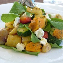 Warm Roast Vegetable & Roquette Salad