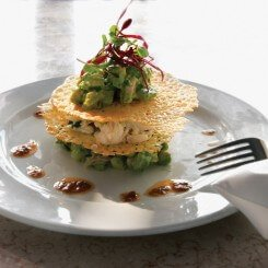 Avocado and Crab Napoleon