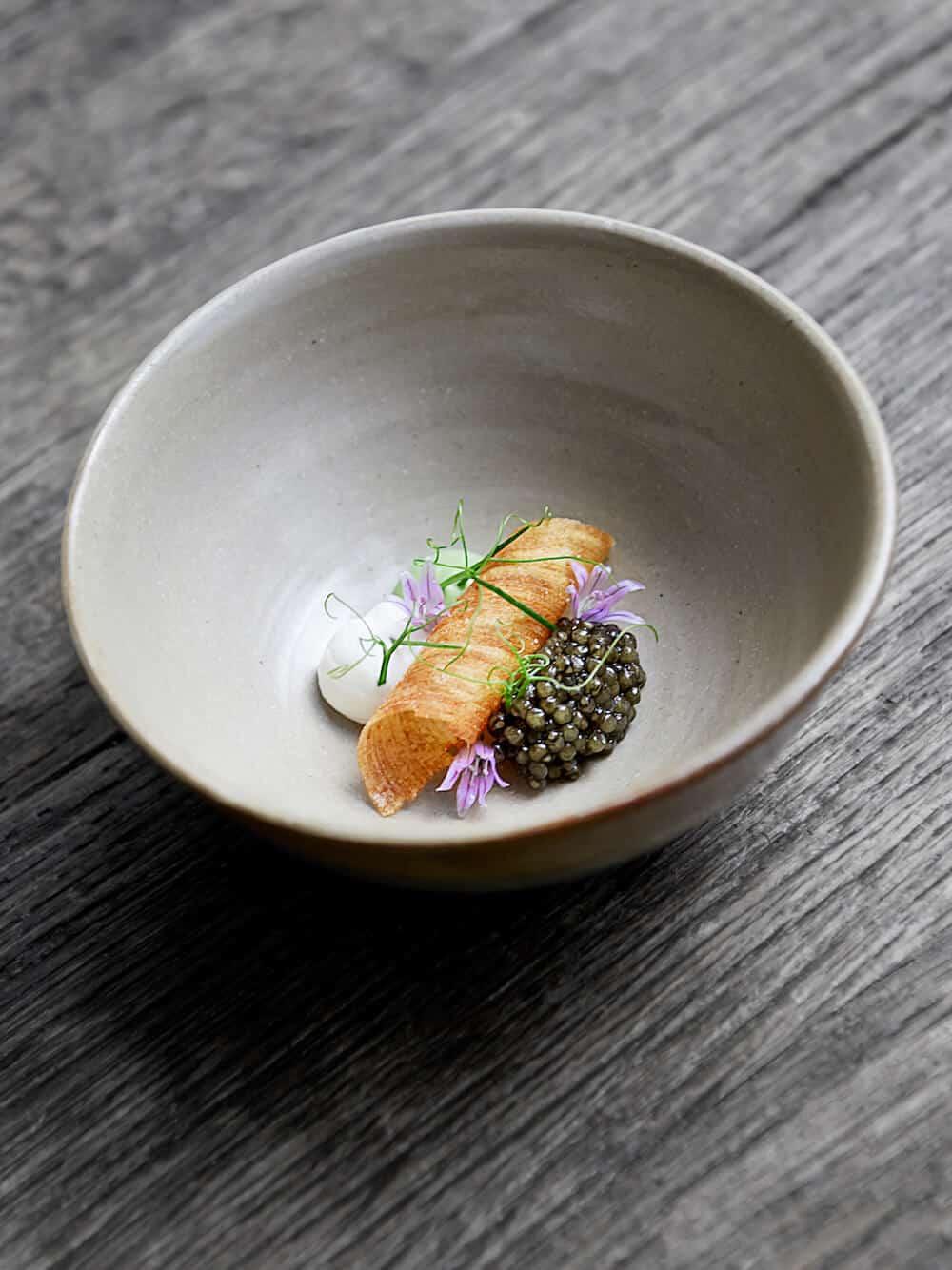 caviar scallion cr me fraiche chefs pencil. Black Bedroom Furniture Sets. Home Design Ideas