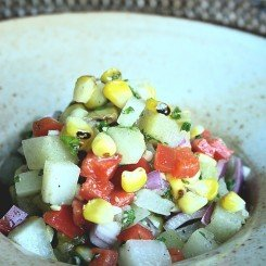 Chayote and Grilled Corn Salad