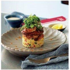Chilli Garlic Masala Prawns with Couscous Salad
