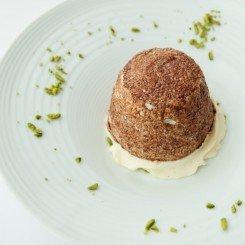 De-molded Pistachio Souffle