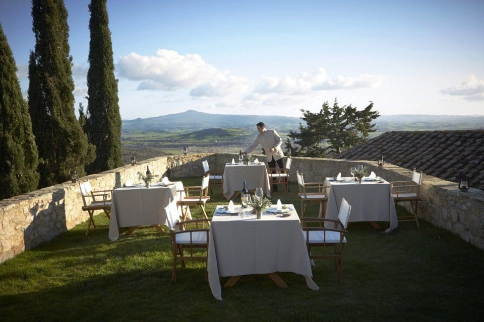 Beautiful views at Castello di Vicarello