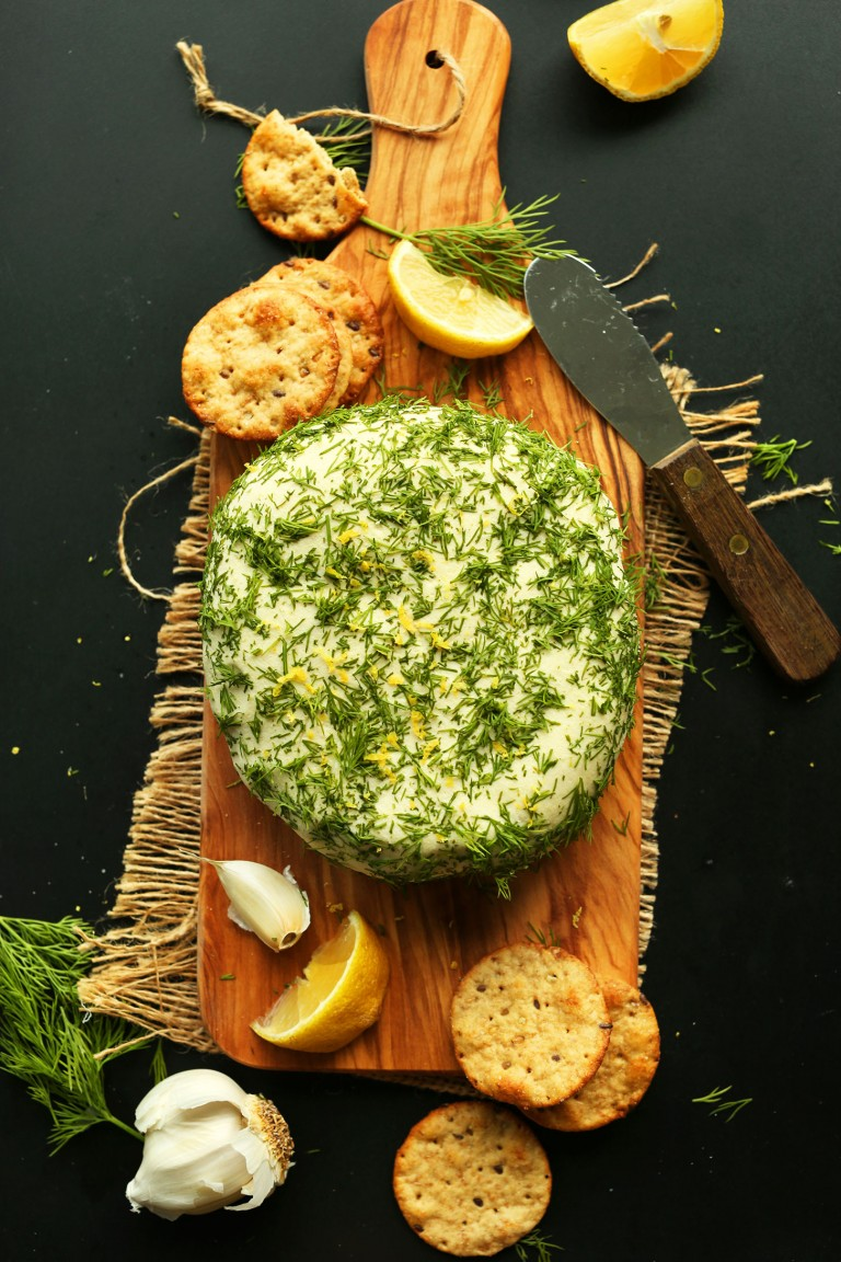 Easy Garlic & Herb Vegan Cheese
