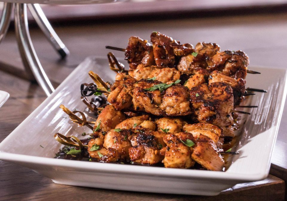 Grilled Chicken Thigh Skewers