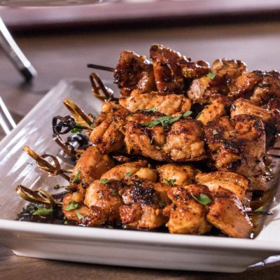 Grilled Chicken Thigh Skewers