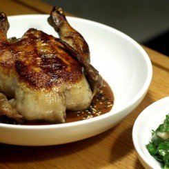 Chicken with Salsa Madre, Swiss Chard and Pumpkin