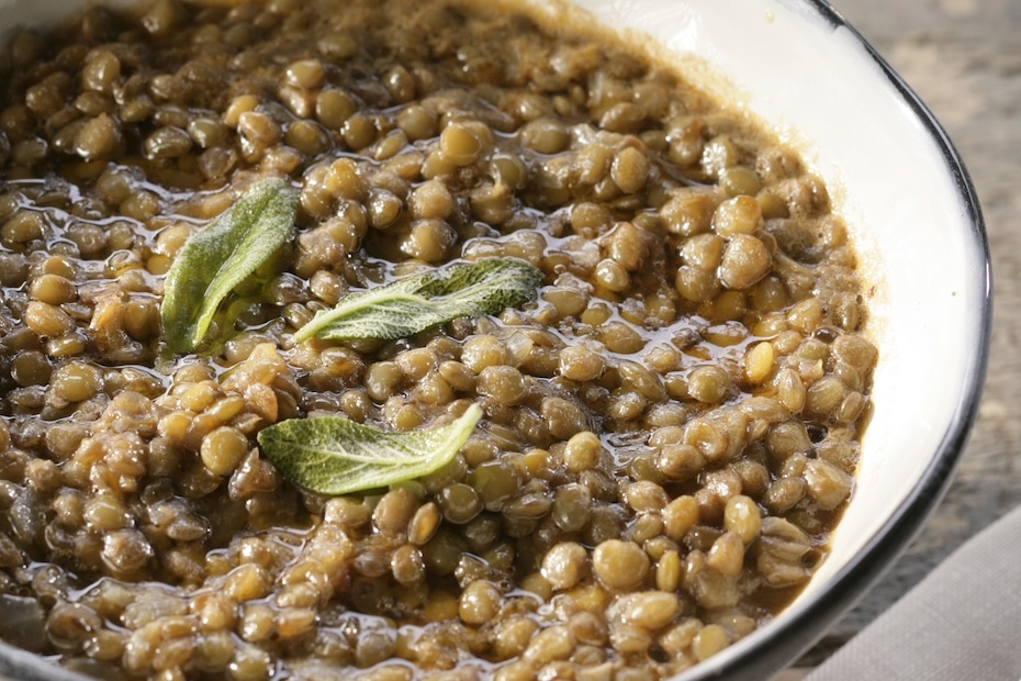 Ikaria Longevity Lentil Soup with Sage and Chile Peppers