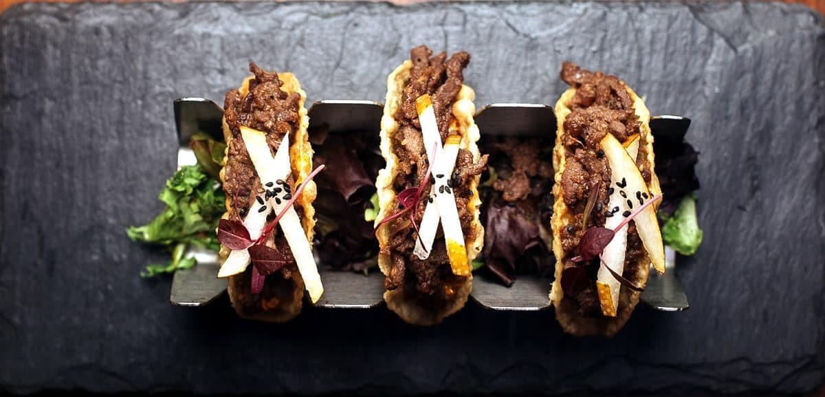 Kimoto Beef Bulgogi Tacos Overhead 2 lo by Conor Harrigan