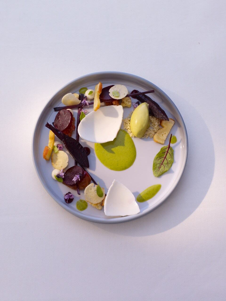 Pistachio Ice Cream Recipe With Gorgonzola, Beetroot & Umeboshi Plum