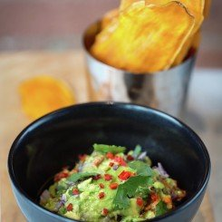 Maze Grill Park Walk_Smashed avocados with sweet potato chips   edit