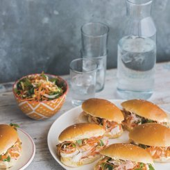 Milk Buns with Lobster & Vietnamese Slaw