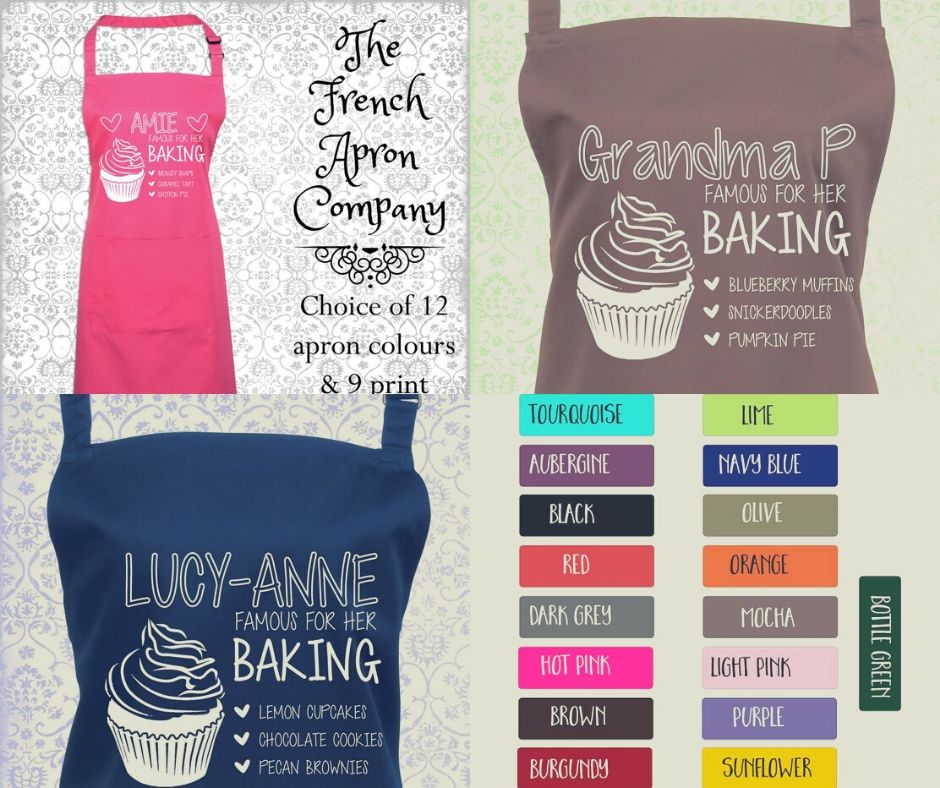 Personalised Baking Apron. - 23 Colours