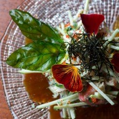 NOVIKOV-Crab-Apple-Salad-with-Wasabi-Dressing