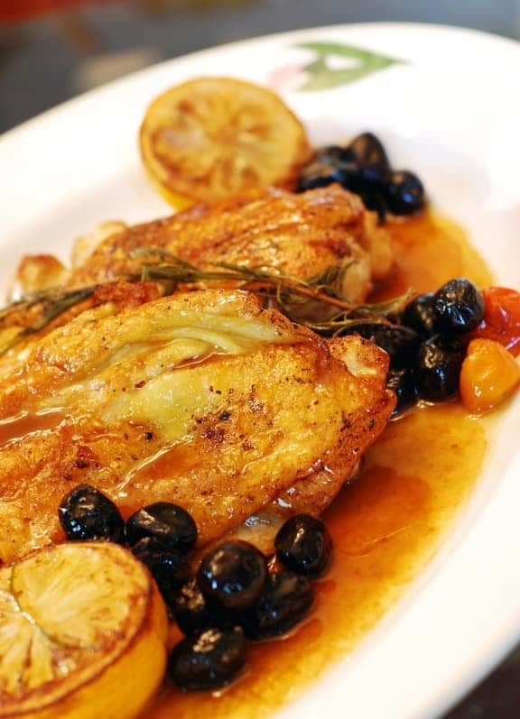 Pan Roasted Mediterranean Chicken