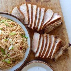 Allspice Pork Chops & Easy Sambal Vermicelli ®