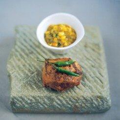 Rajasthani Roast Rump of Lamb with Corn Sauce