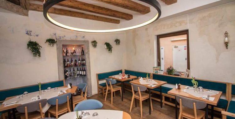 Inside of Dei Frati Restaurant;