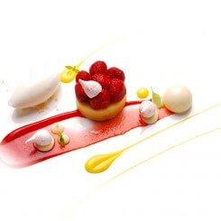 Strawberry Cheese Cake with Yuzu & Meringue