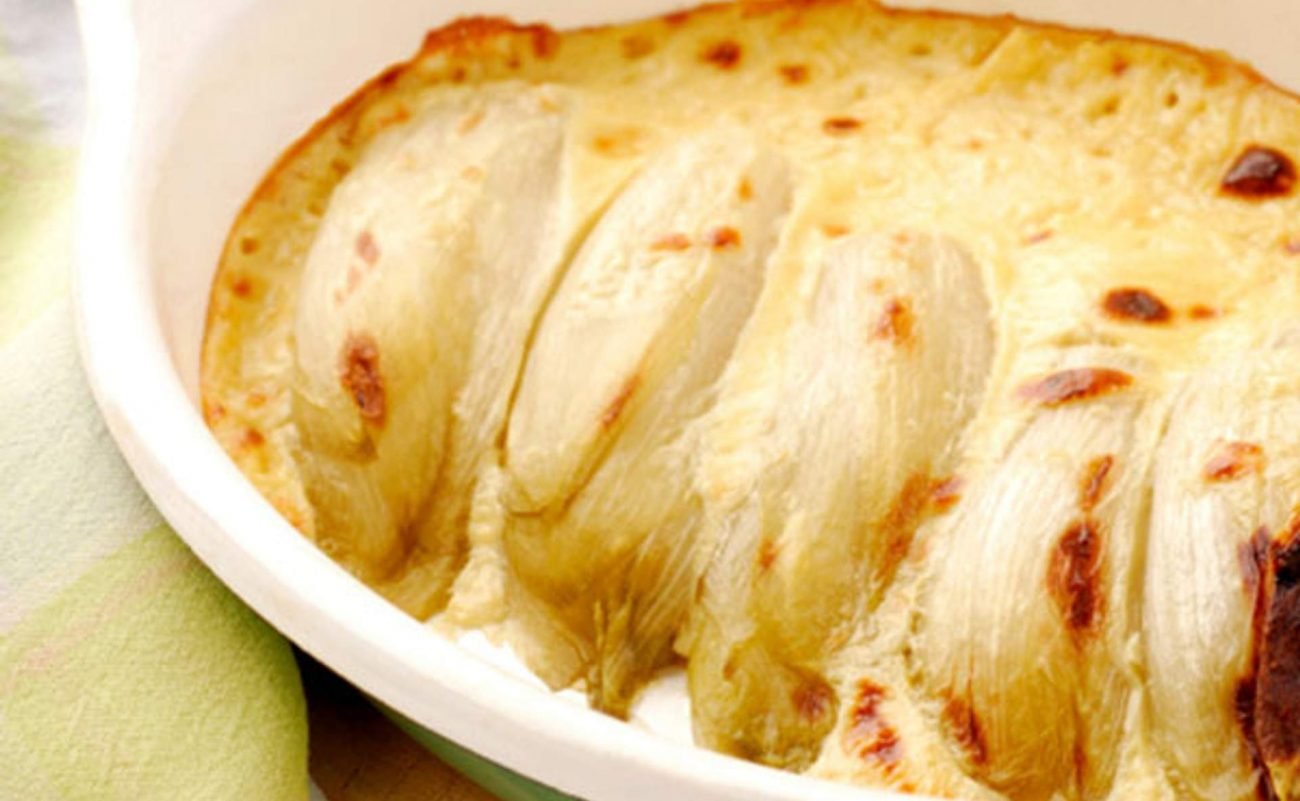 Baked Endives with Roquefort Cheese | Endive Gratin