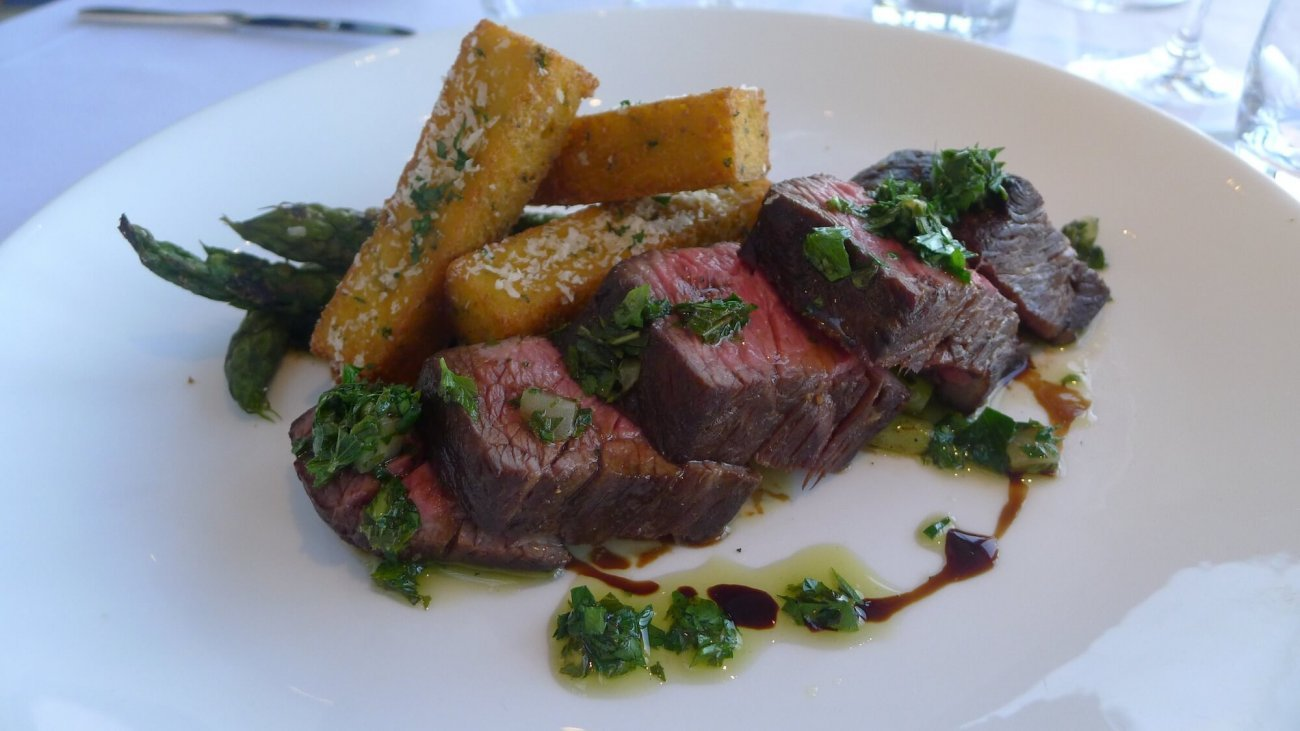 Bistro Steak Recipe with Polenta Fries by Chef Nader Jaouhar