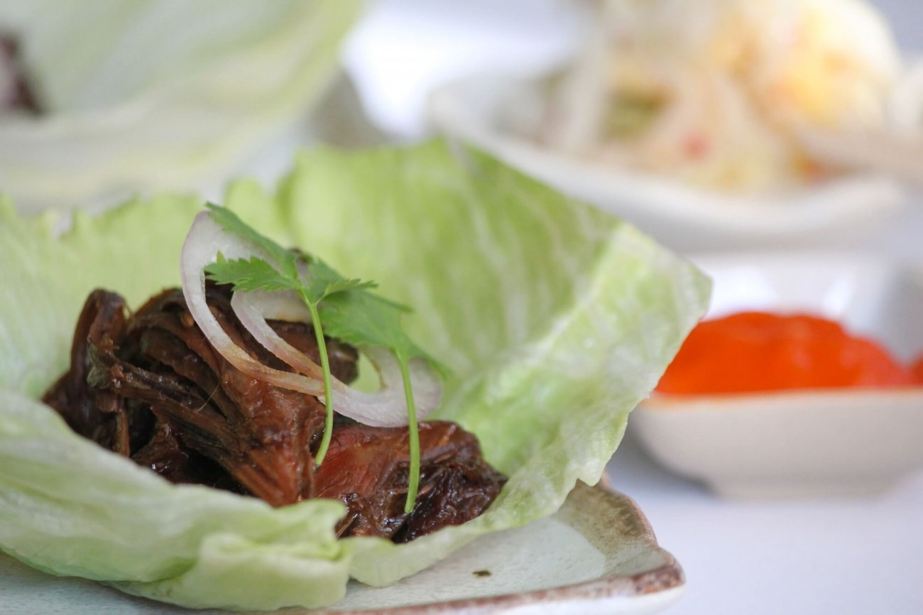 Slow Cooked Lamb Shoulder Recipe With Kimchi & Sriracha