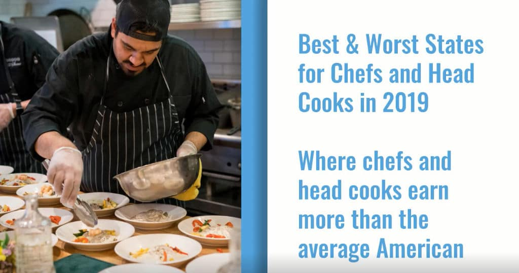 Best Paying States for Chefs and Cooks in 2019