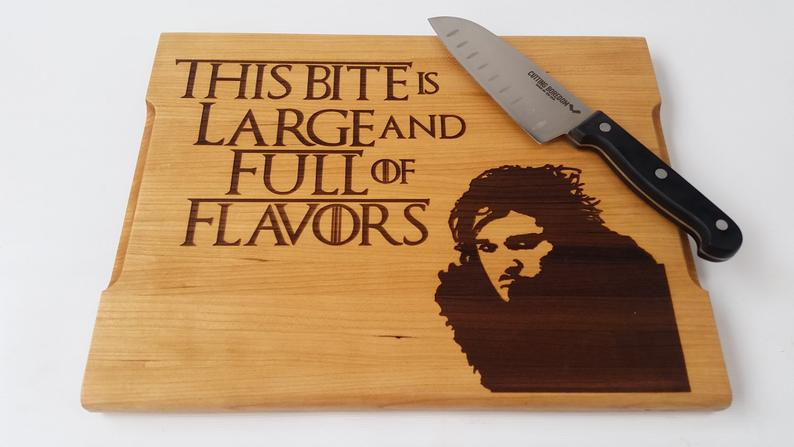 john snow cutting board