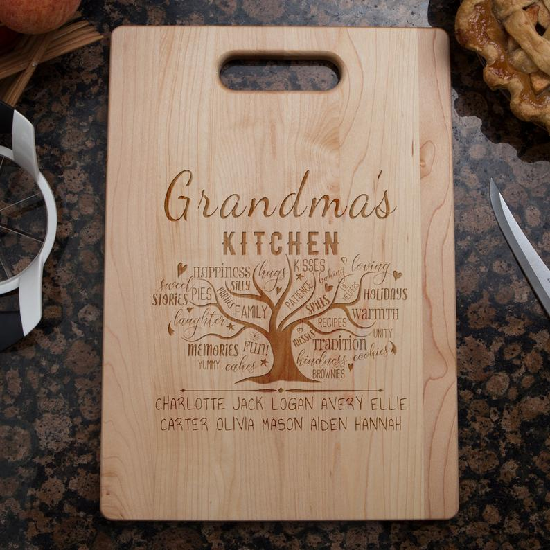 Chopping Board - Grandma's Kitchen Tree