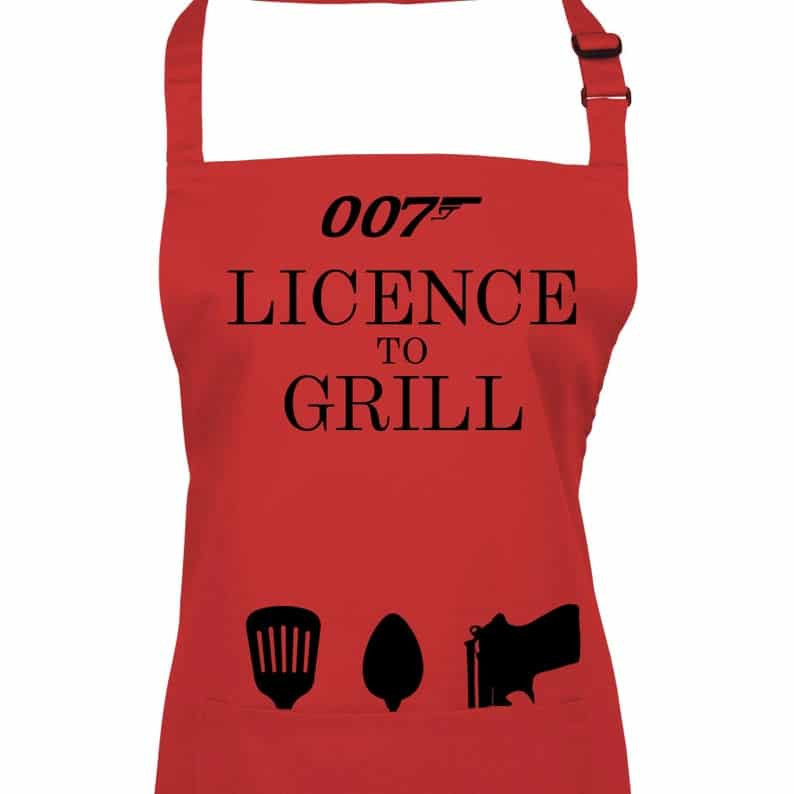 Licence to Grill 007 Apron.