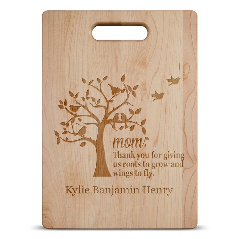 Mothers Day Personalized Maple Cutting Board