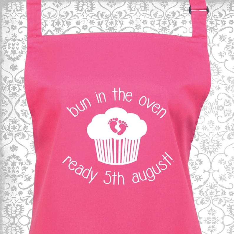 Personalised Bun in the Oven Maternity Apron
