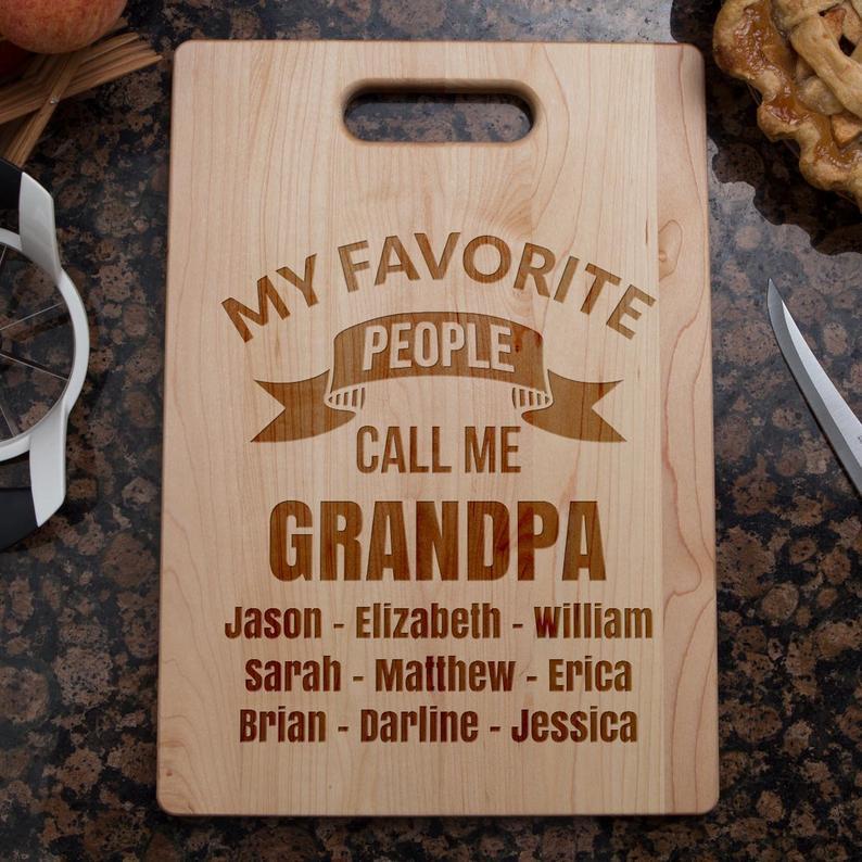 Grandpa Cutting Board