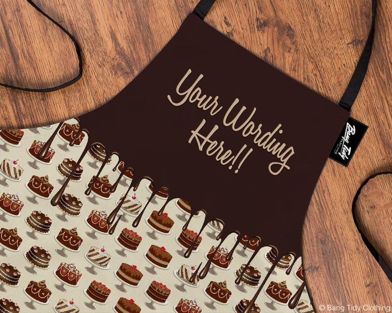 Custom Candy Baking Apron | Chocolate Cakes