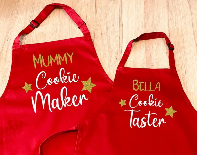 Cookie Taster Apron Set for ADULT & CHILD