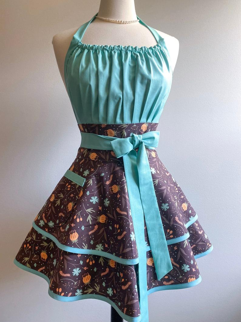 Personalized Womens Retro Apron for Fall