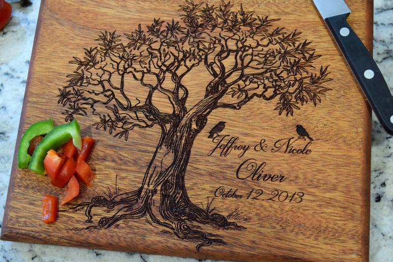 Custom Cutting Board Wedding Gift