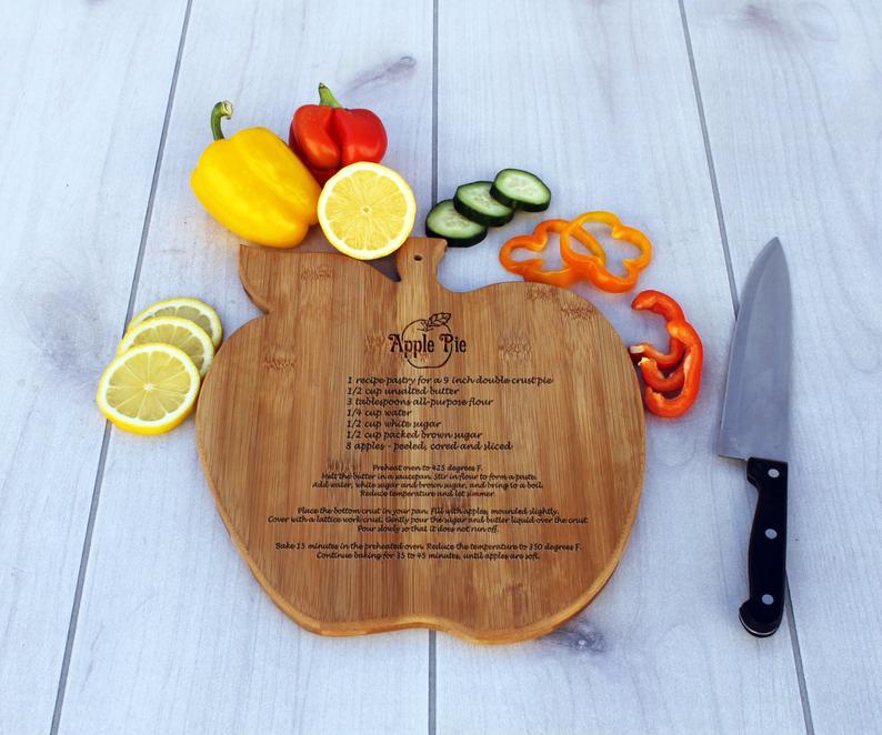 Custom Cutting Board- Apple Pie recipe