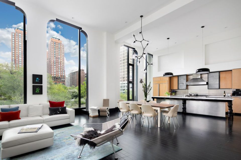 Stunning Union Square Views from Living Space and Kitchen